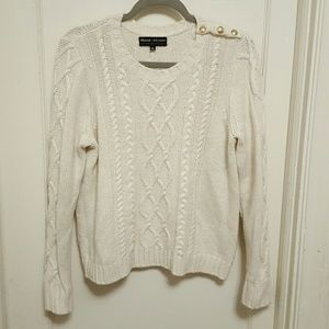 Madewell & Sézane Marin cable knit sweater